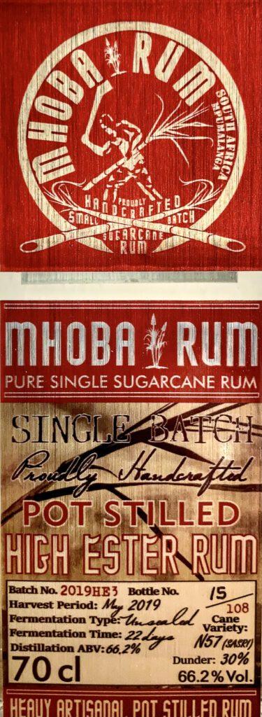 Mhoba Rum etikett