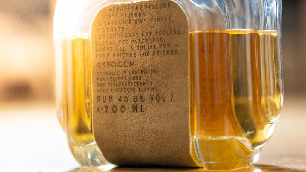 4x50 Rum mit Lederetikett