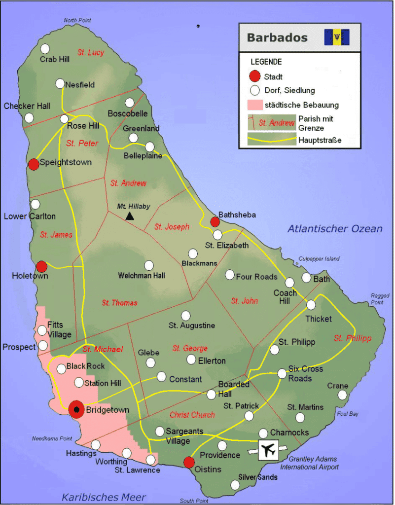 845px Map of Barbados
