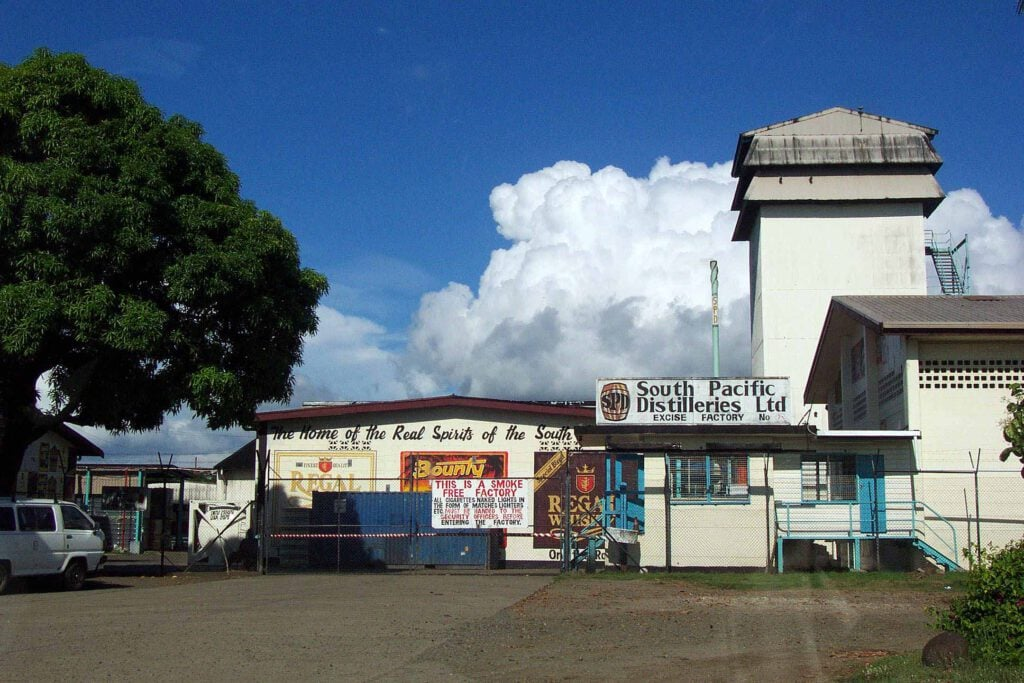 South Pacific Distillery Eingang