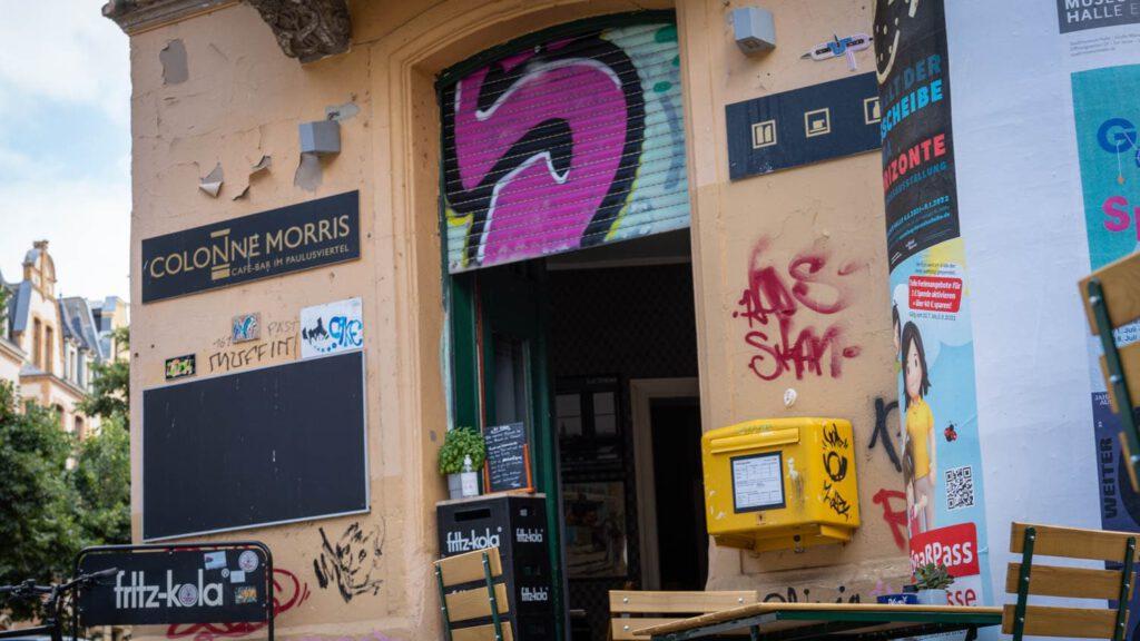 Colonne Morris Eingang